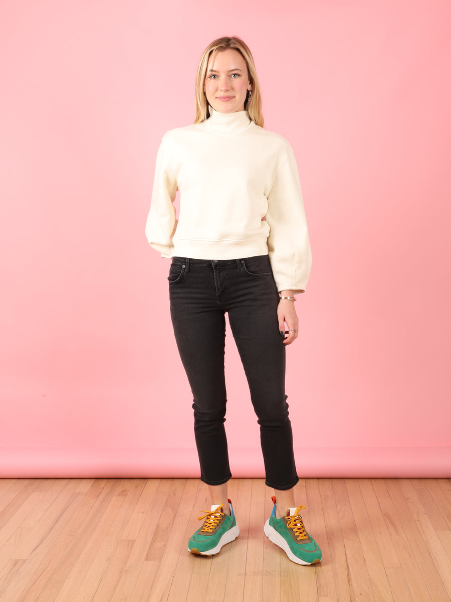 Elsa Mid Rise Slim Fit Crop in Reflection