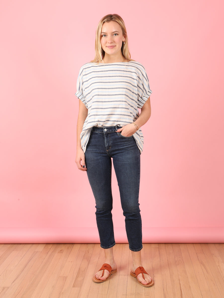 Harlow Ankle Jean in Gleams