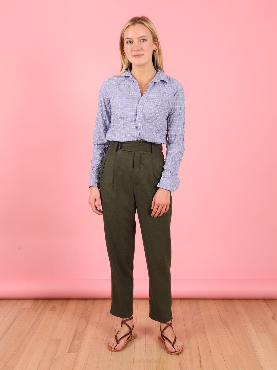 Liv Cropped Pant in Lentil Green