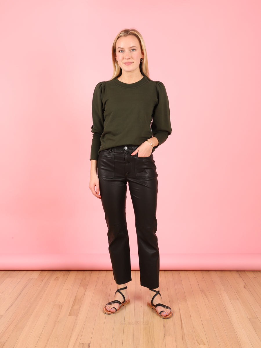 Leather Marston Pant in Black