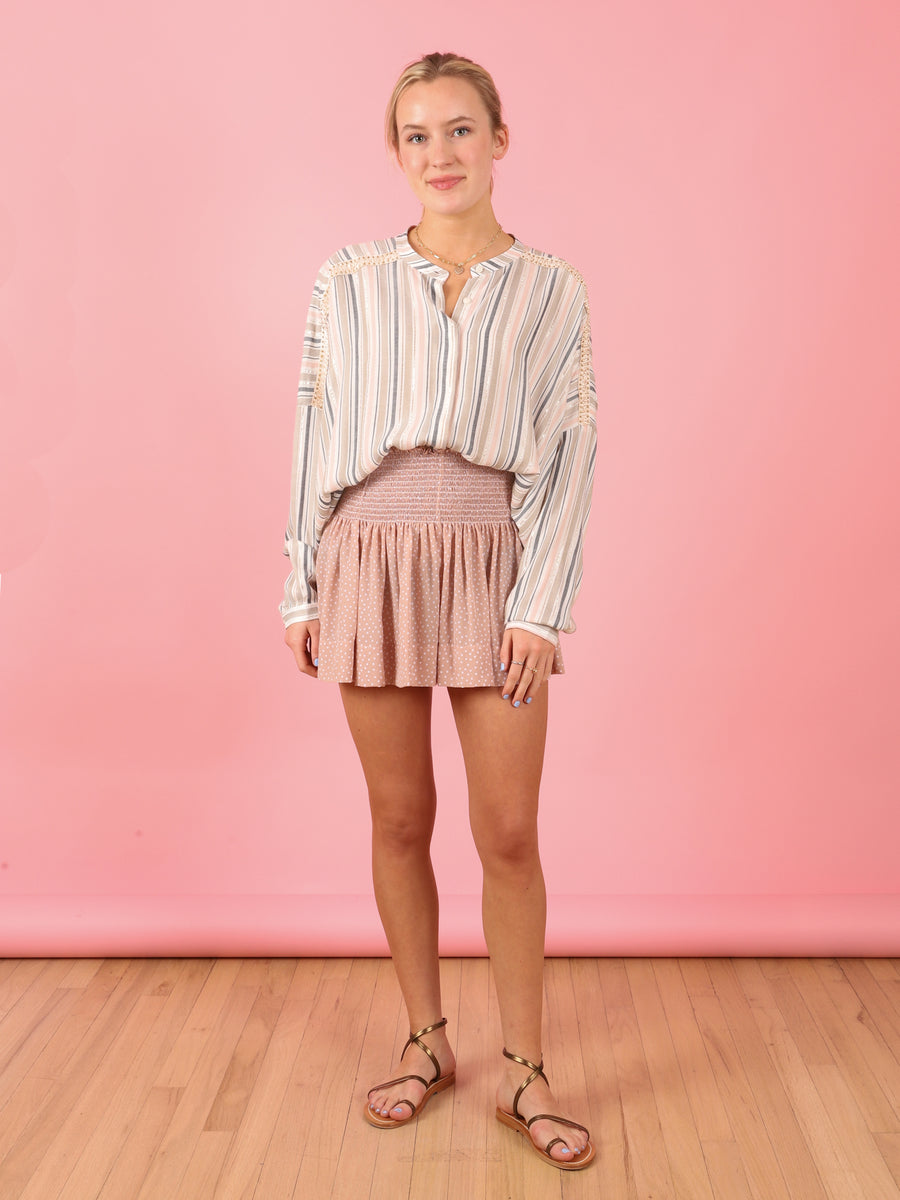 Stripe Leonardo Top in Pink