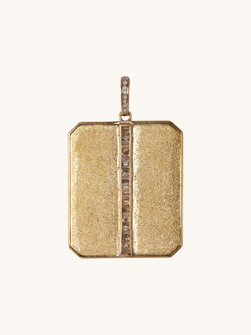 Brass and Diamond Baguette Charm