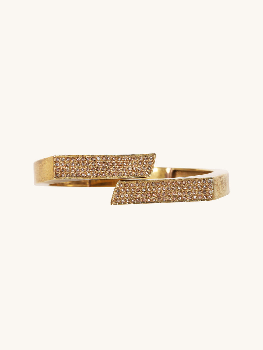 Split Brass Pavé Bangle