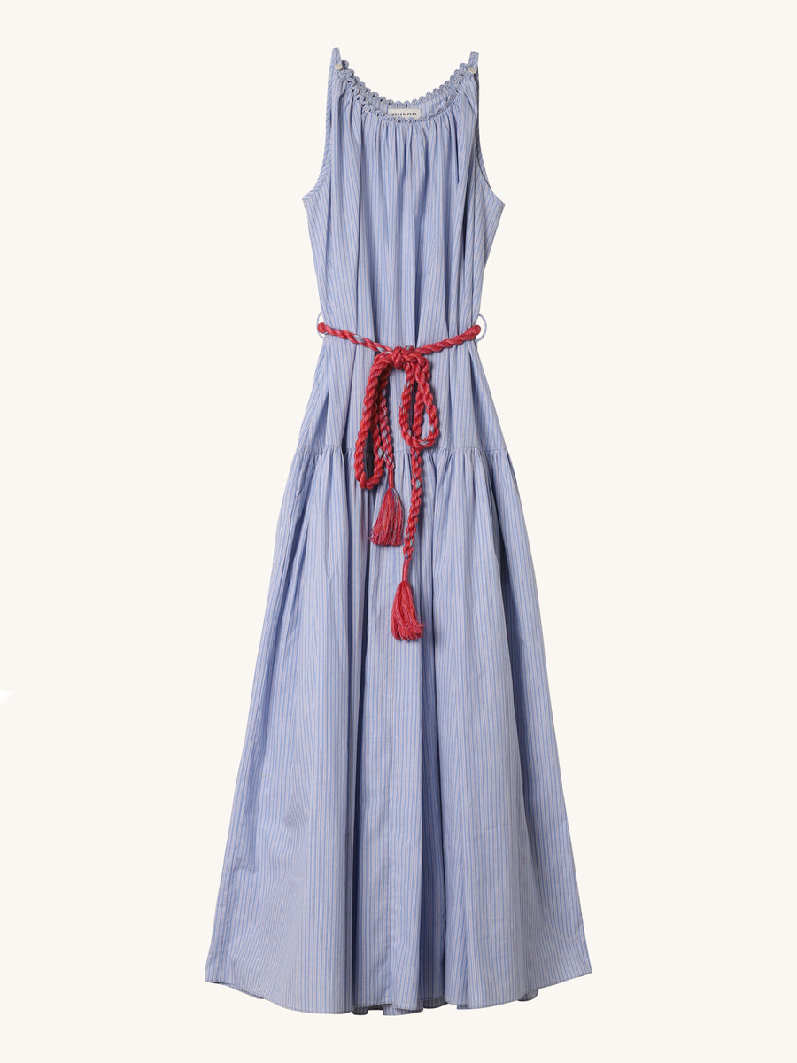 Maxi Dress in Blue Stripe