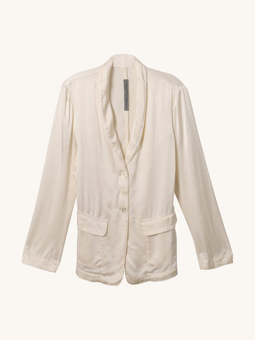 Slim Shawl Blazer in Cream