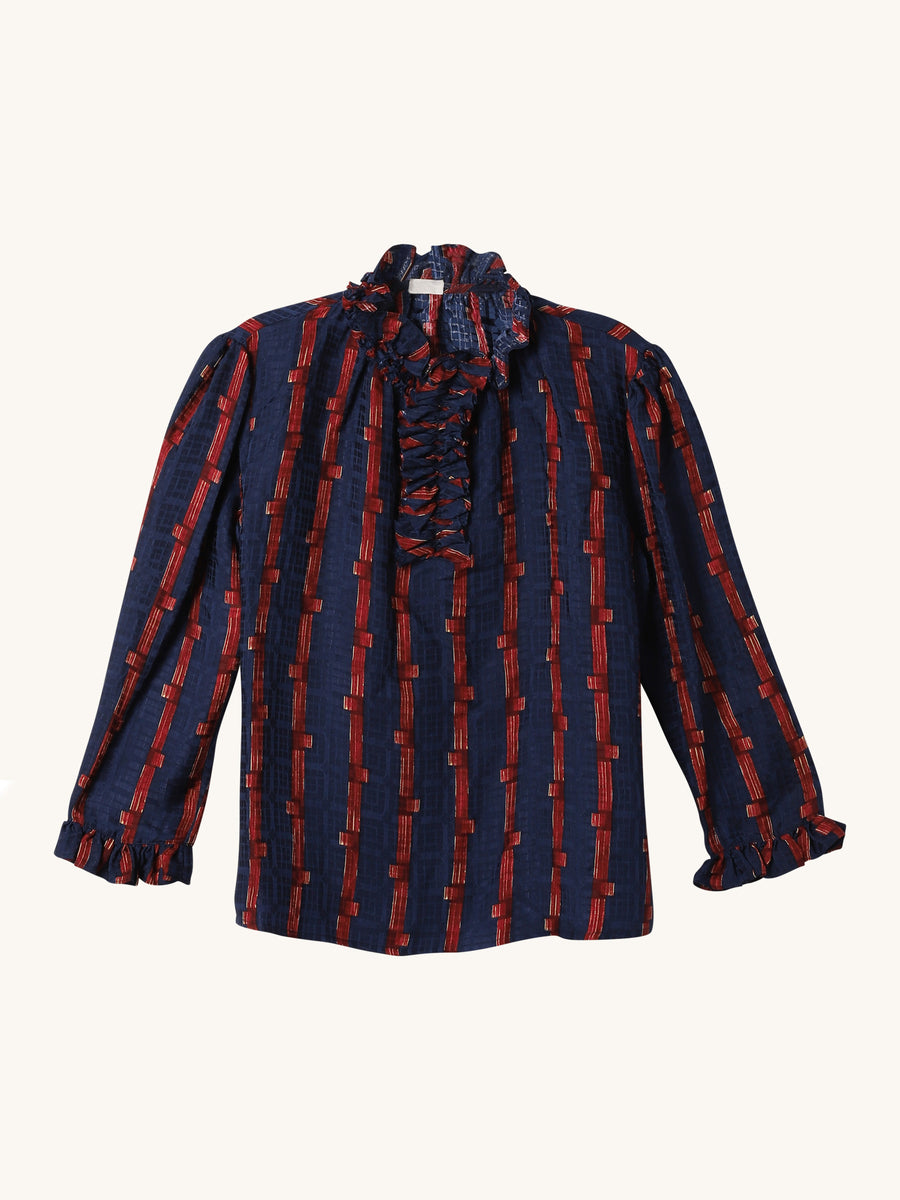 Ines Blouse in Navy