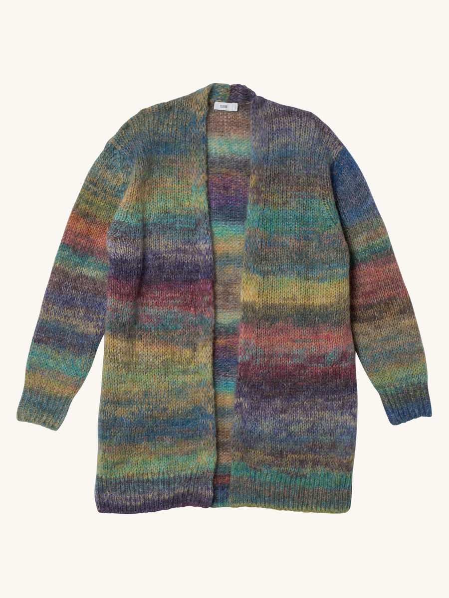 Knit Coat with Color Gradient