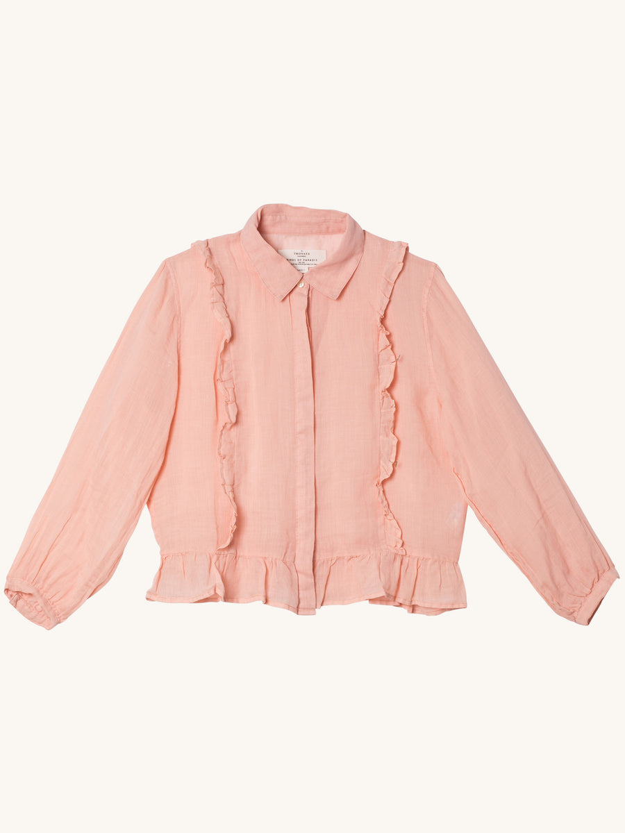 Alicia Ruffle Blouse in Blush