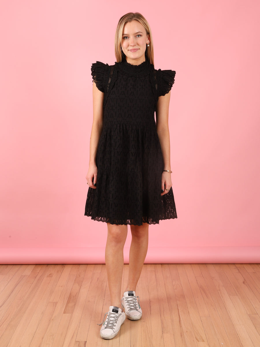 Ingrid Flutter Sleeve Dress