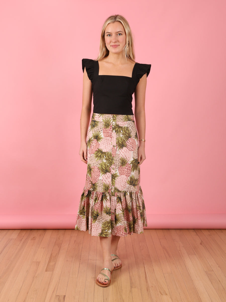 Pineapple Print Georgica Skirt