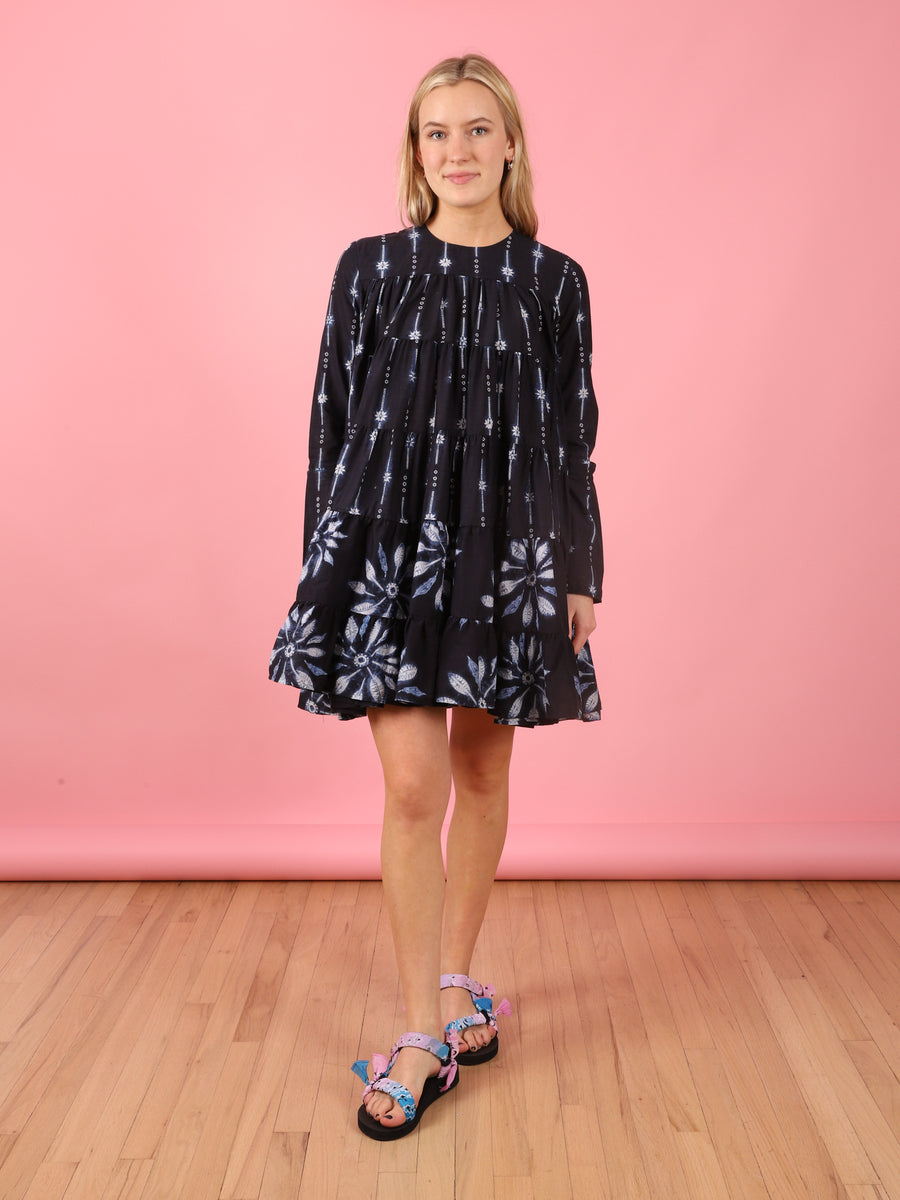 Soliman Navy Shibori Dress