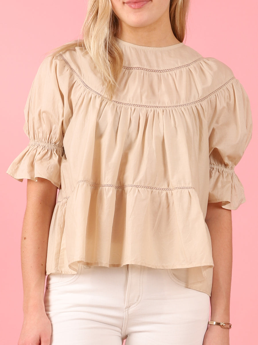 Sol Blouse in Beige
