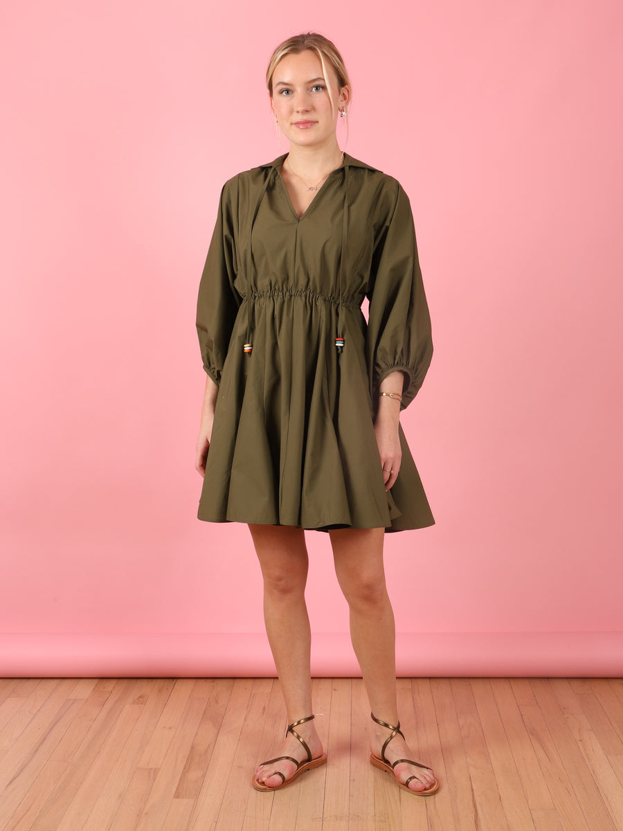 Merry & Me Dress in Olive