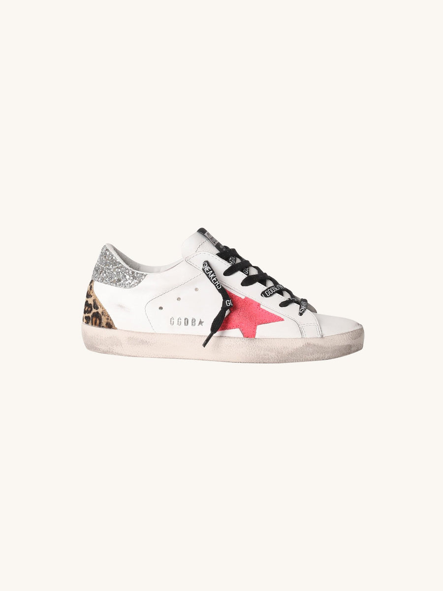Superstar Sneaker in White & Pink