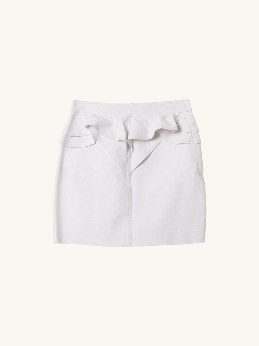 Napola Mini Skirt in White