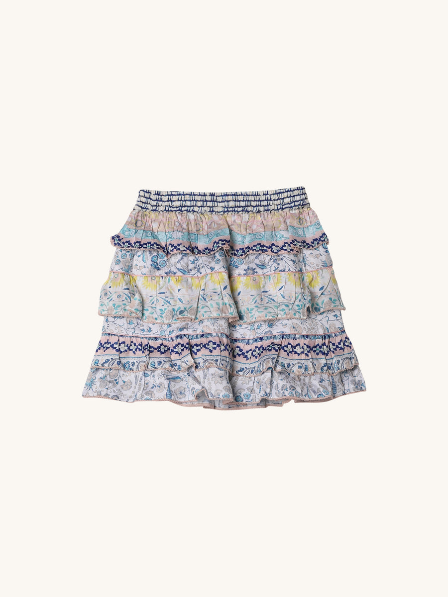 Printed Mini Skirt in Multi