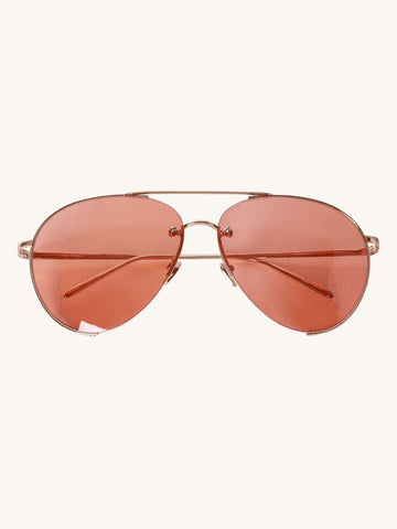624 C5 Aviator Sunglasses in Rose Gold