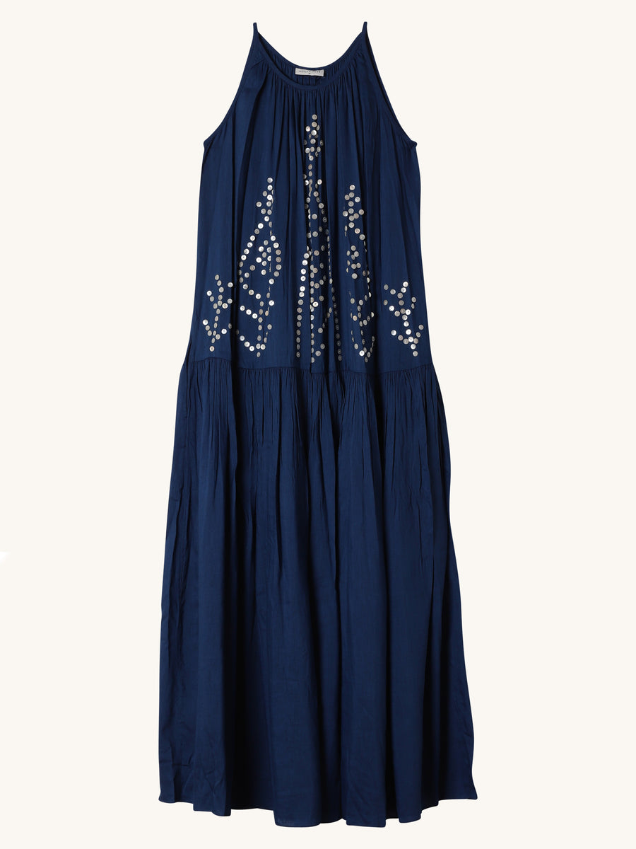 Tora Pearl Maxi Dress in Lapis