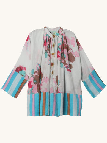 Priest Tunic in Winter Sky Floral