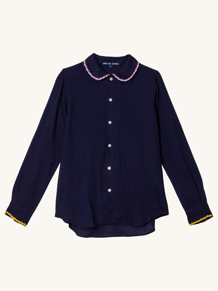 Beswick Wool Top in Navy
