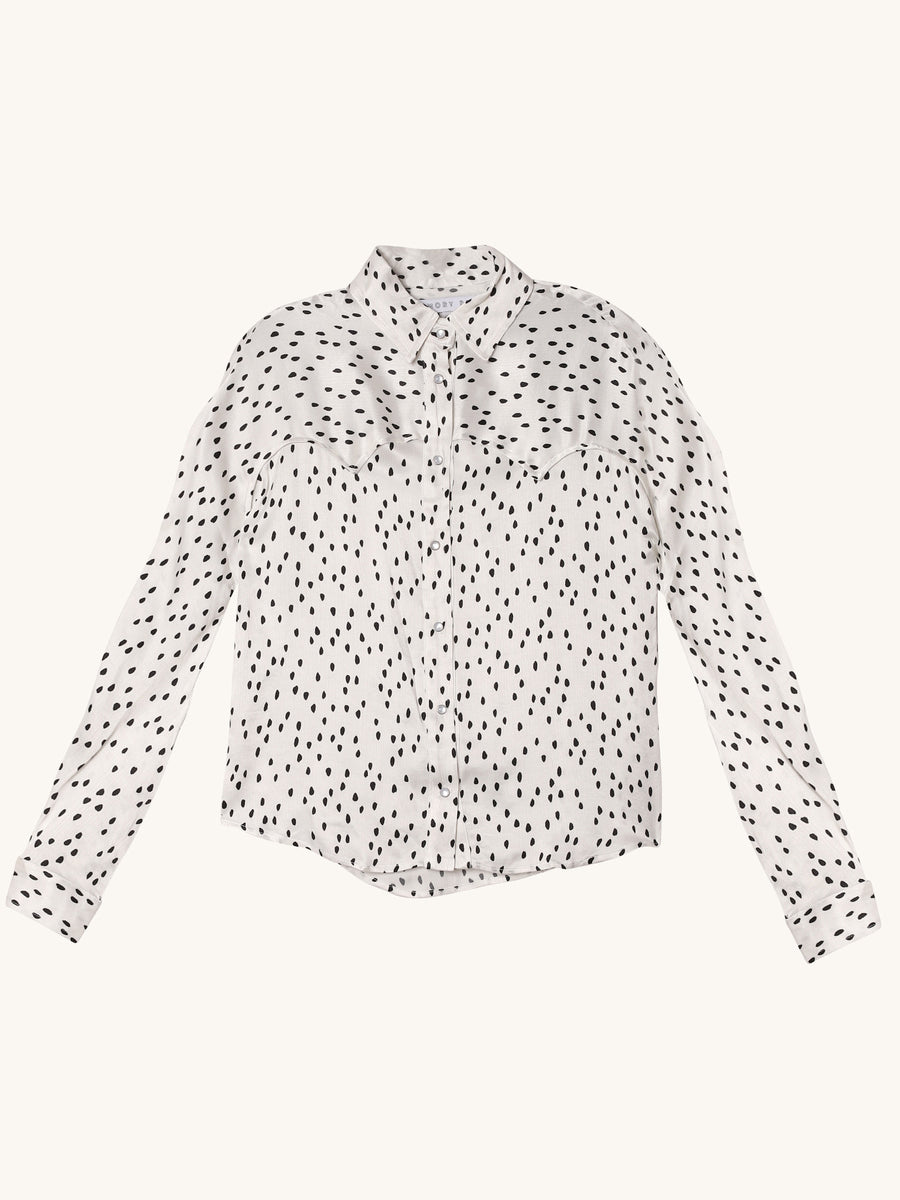 West Polka Dot Button Down