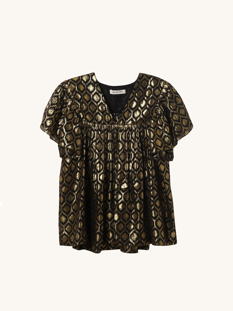 Barcoa Blouse in Metallic
