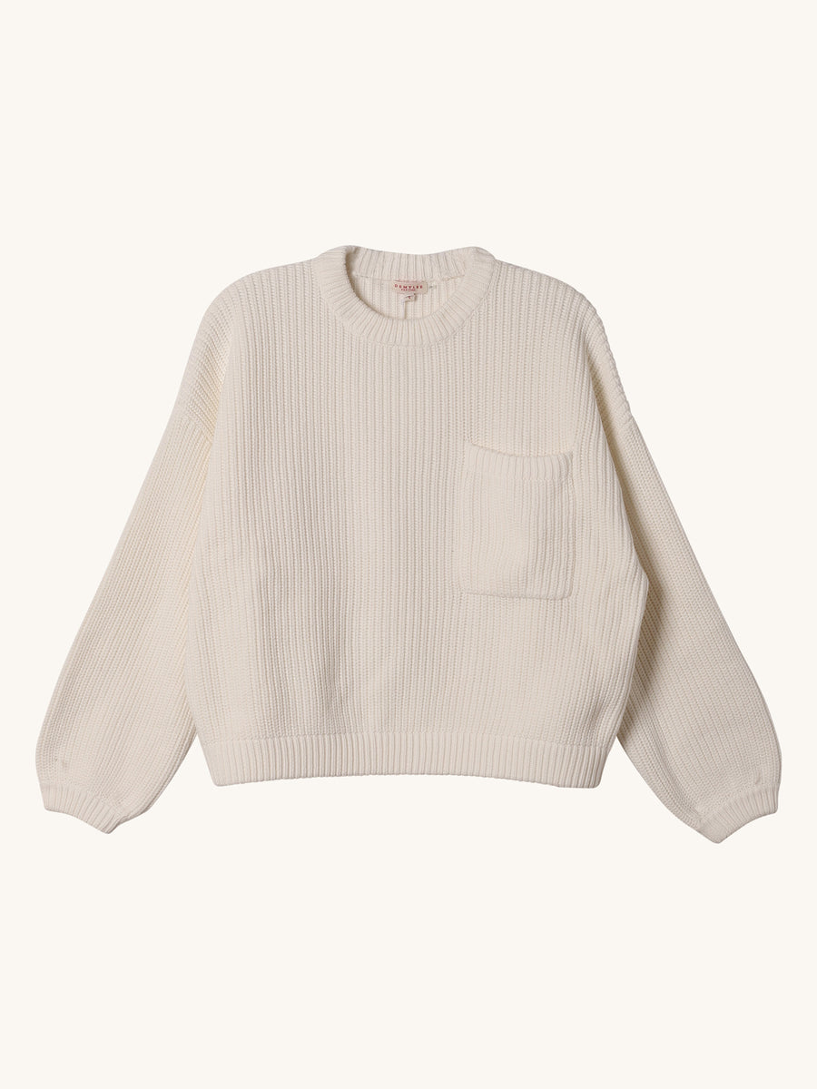 Grant Sweater in Off White