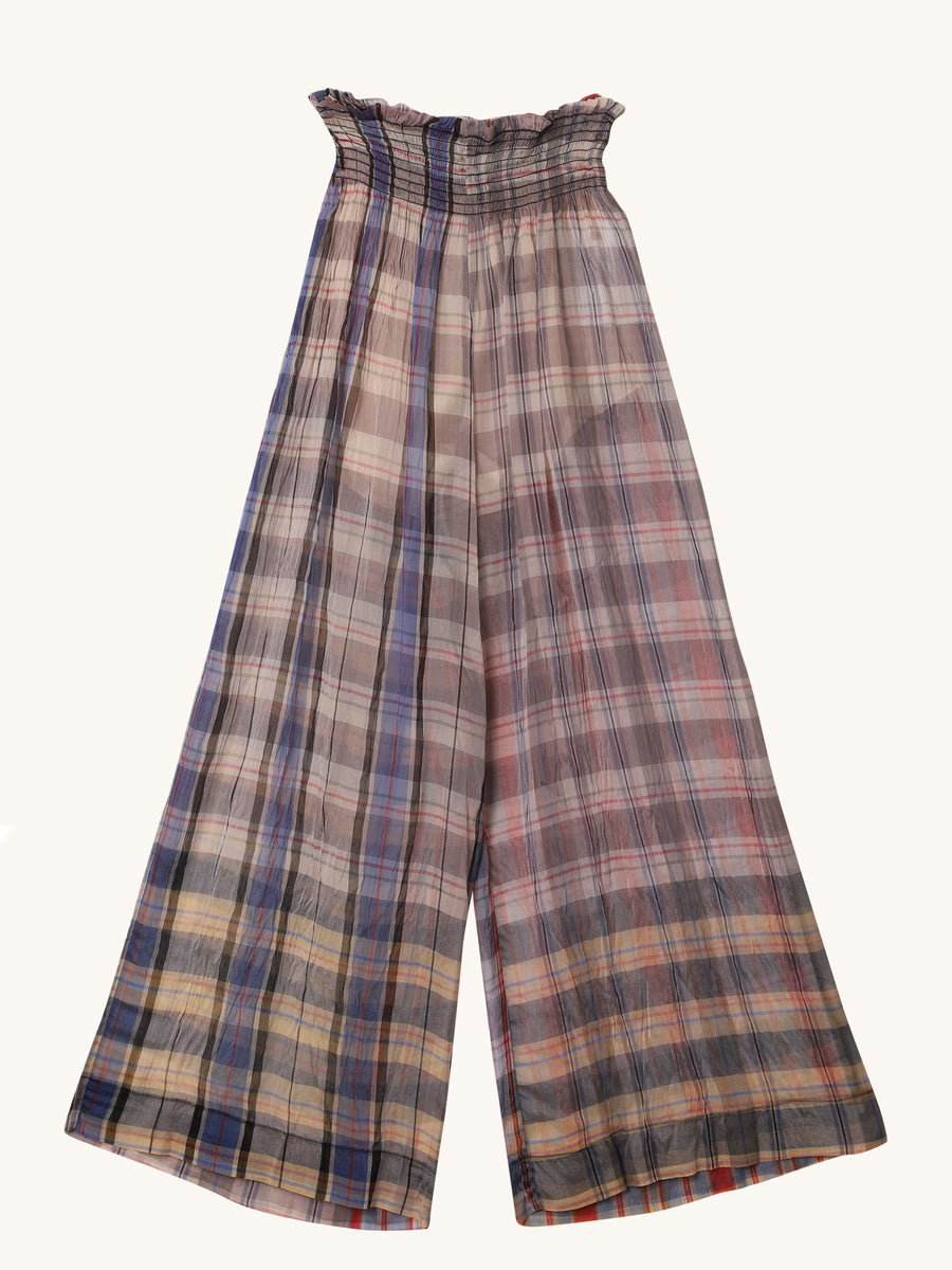 Silk Check Pants