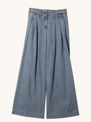 Denim Wide Leg Trousers