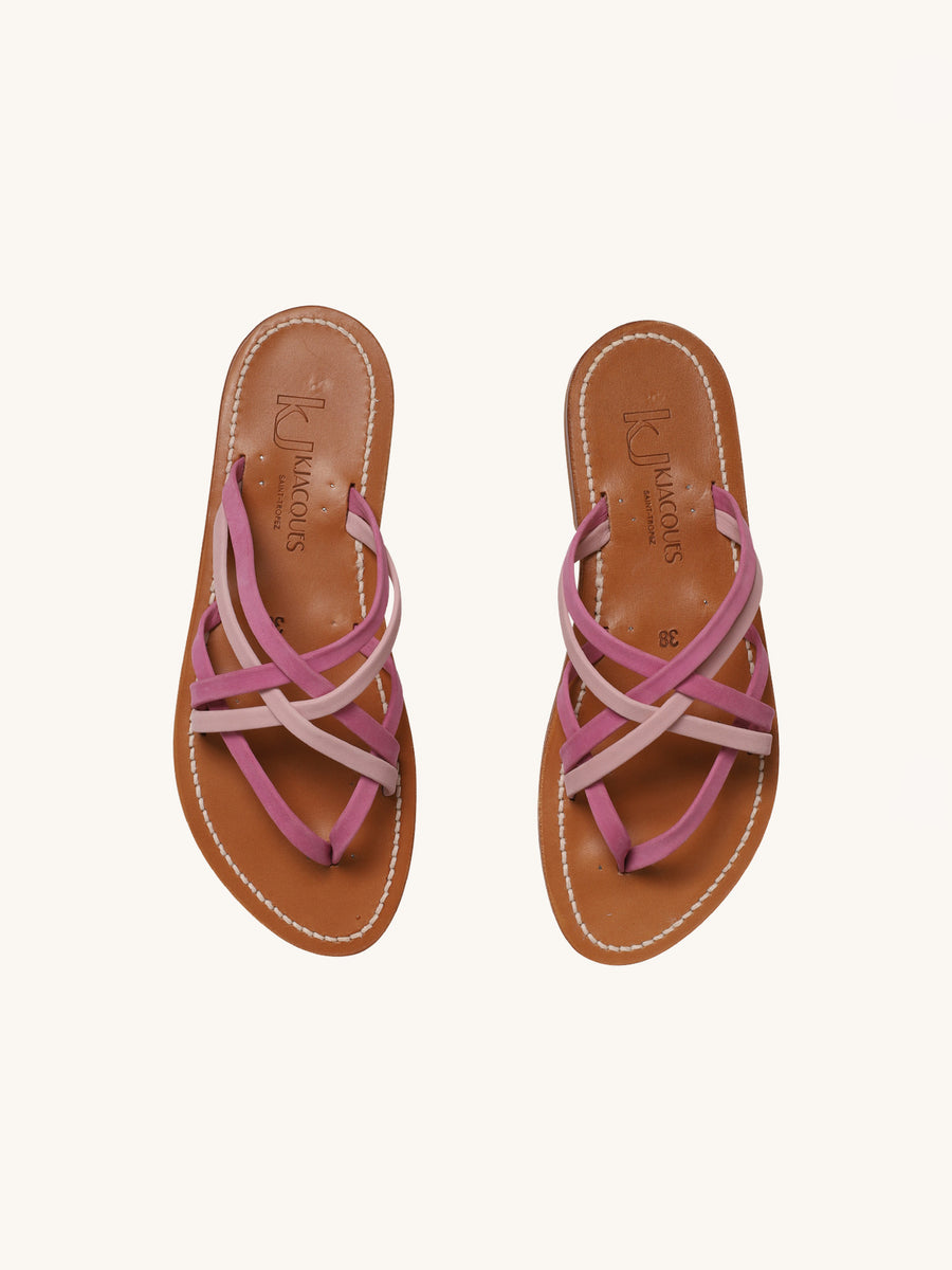 Pantheon Sandal in Hibiscus