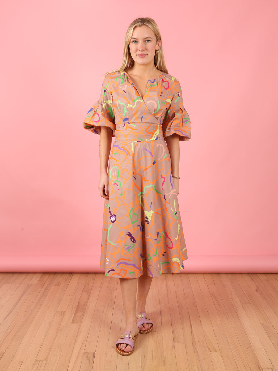 Squiggle Print Frida Dress