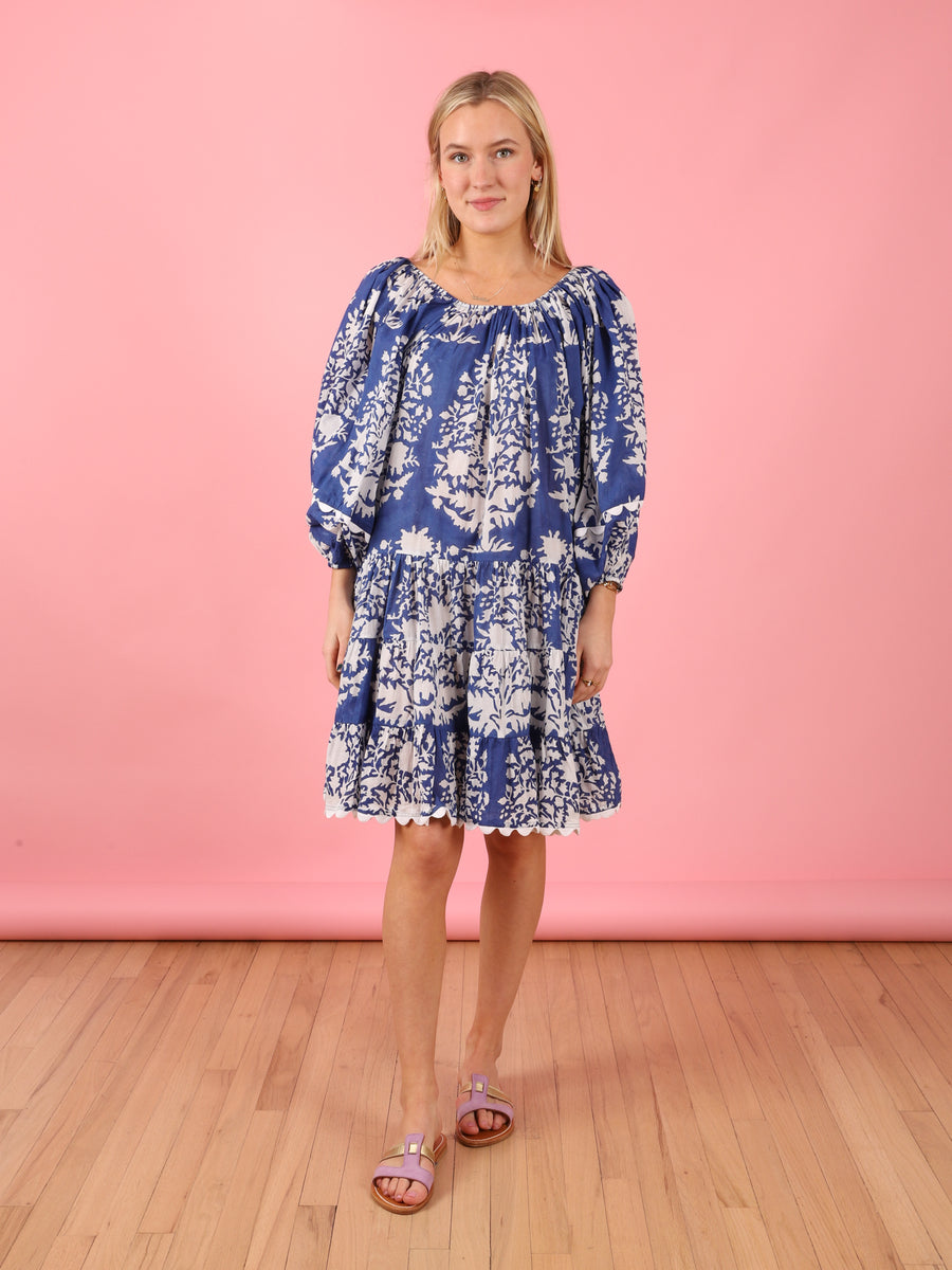 Boho Palladio Dress in Blue