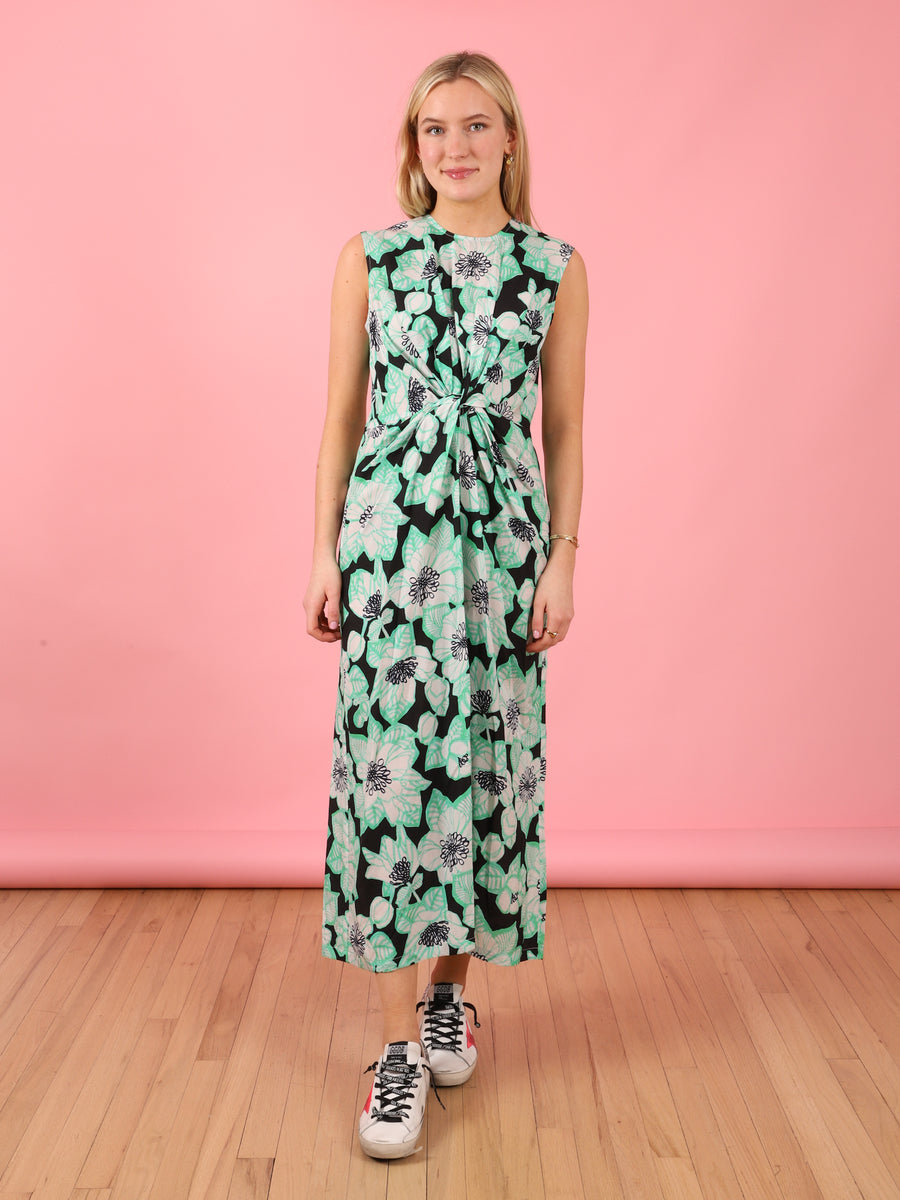 Deena Dress in Black & Green