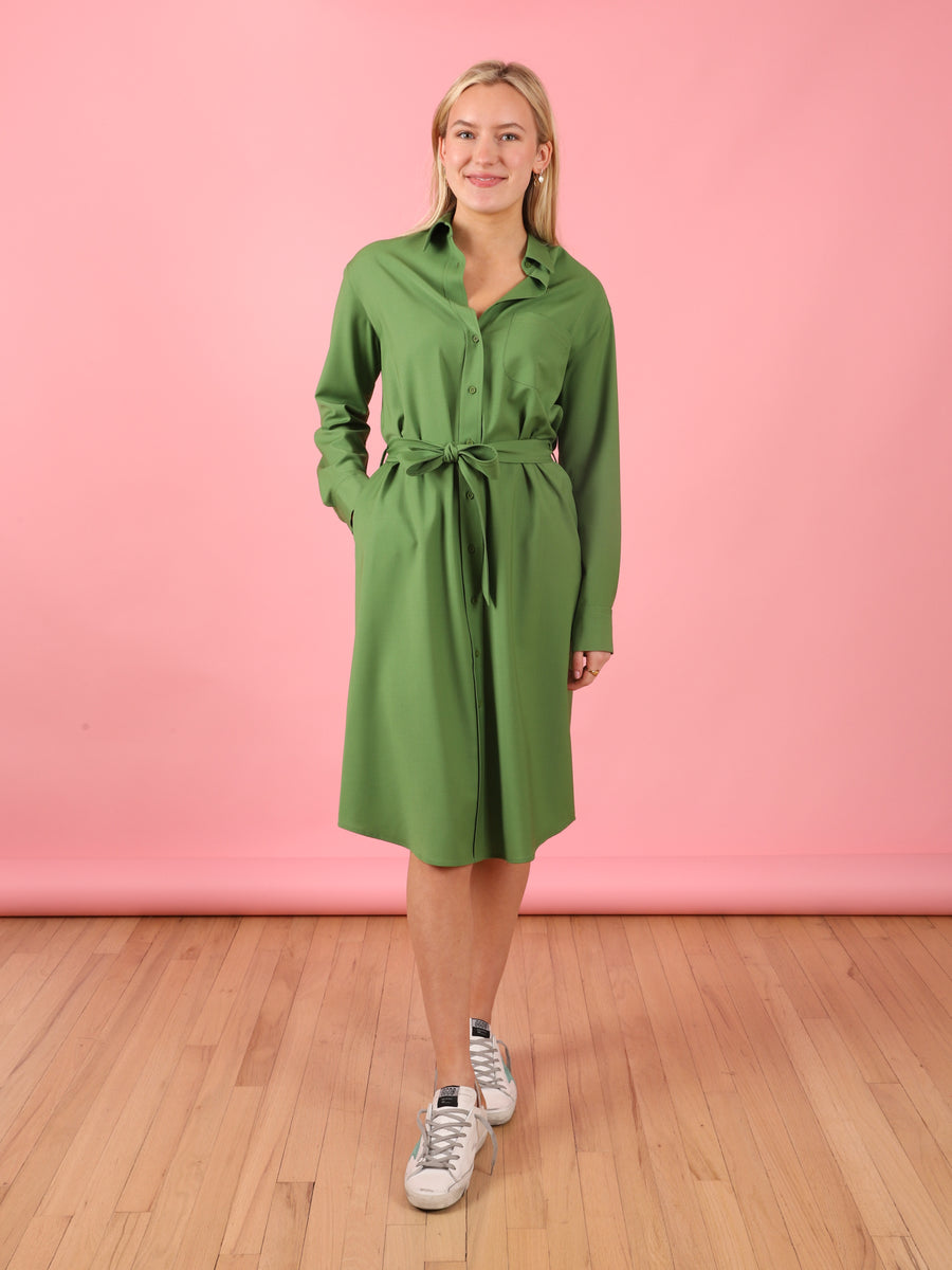 Alice Dress in Herbal Green