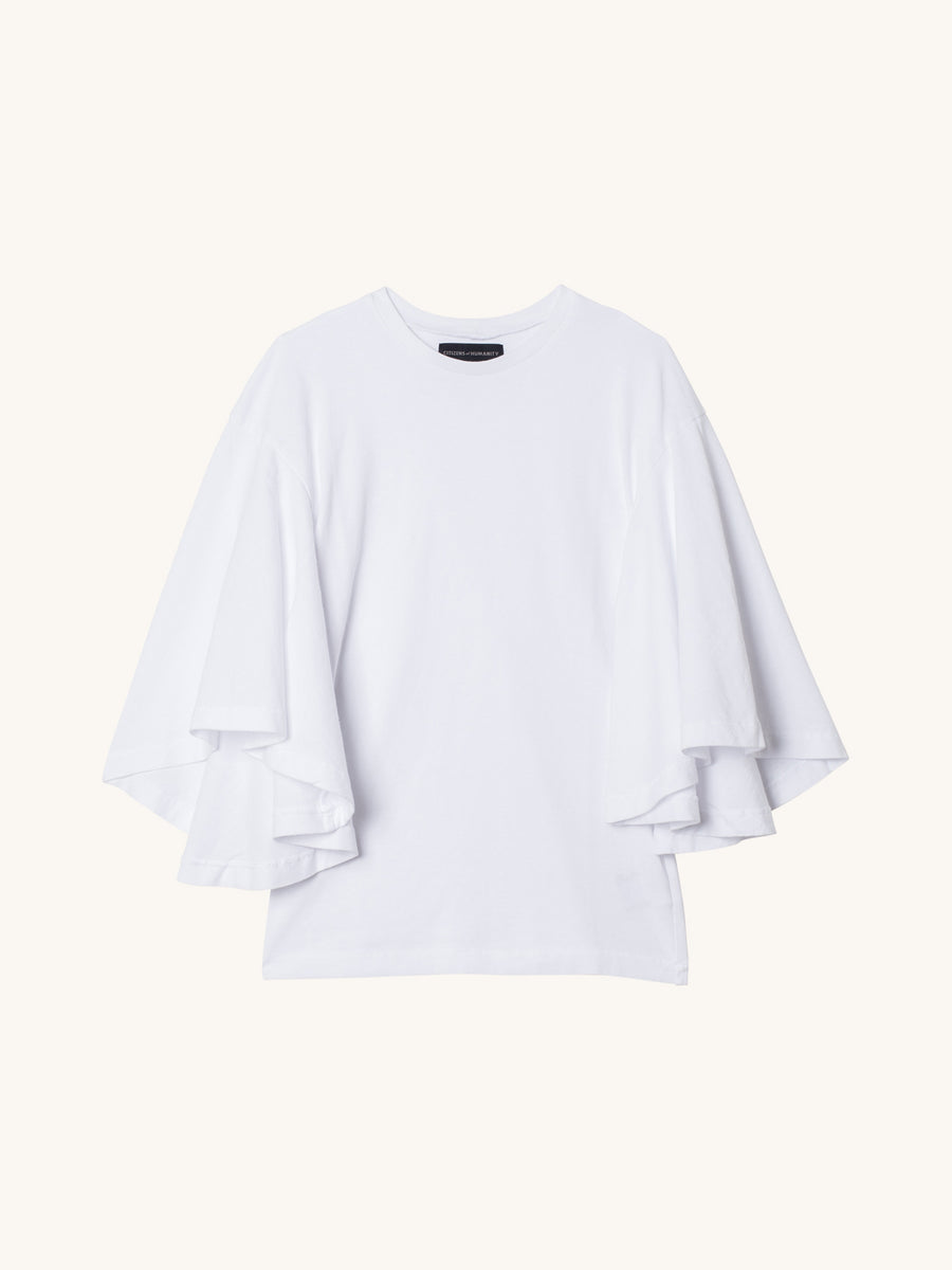 Jersey Flutter T-Shirt in White