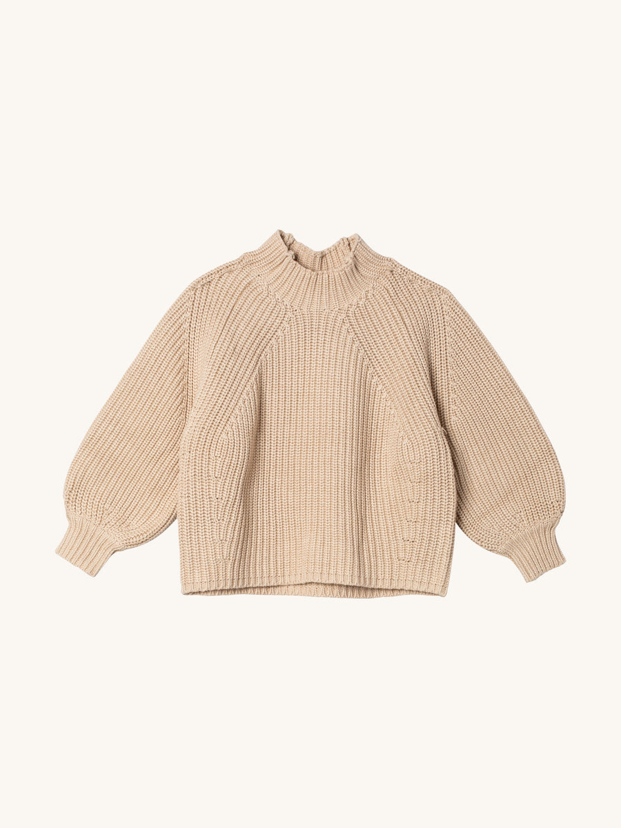 Merel Funnel Neck Crop in Wheat