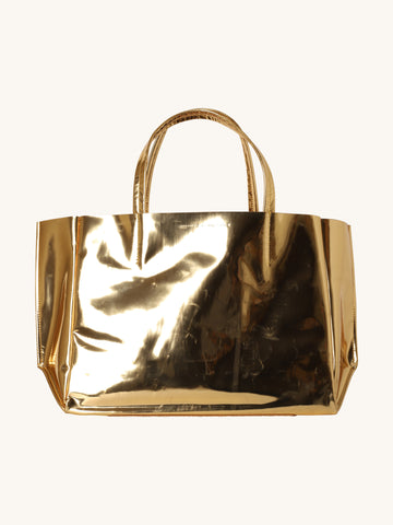 Gold Mirror Sideways Tote