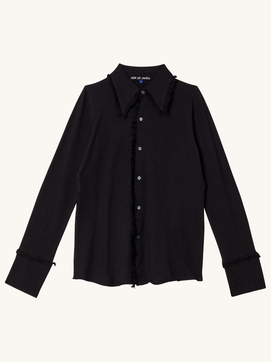 Denver Cotton Shirt in Black