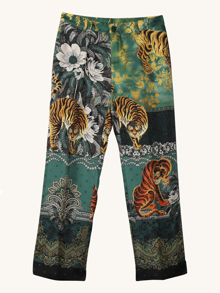 Green Tiger Boyfriend PJ Pant