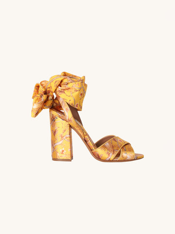 Connie Wrap Heel in Yellow