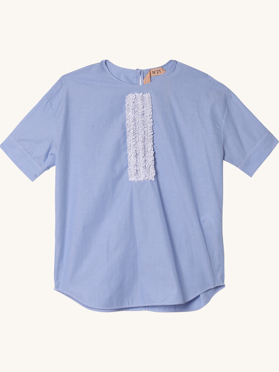 Short Sleeved Top with Ruffle