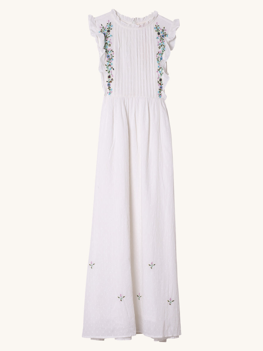 Kavita Dress in White