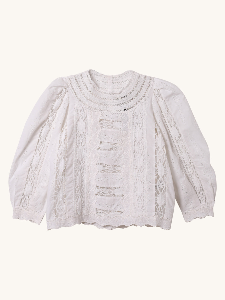 Lea Blouse in White