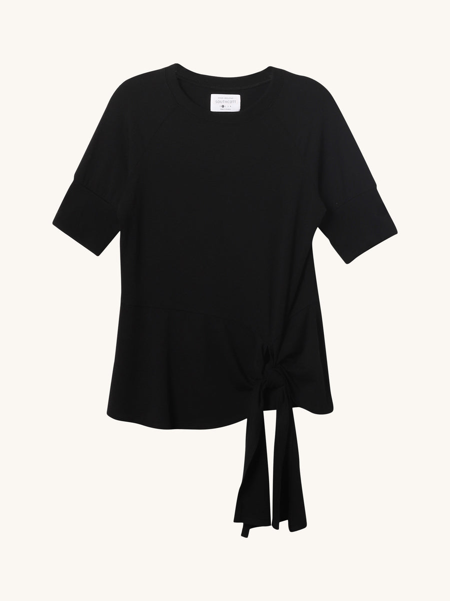Carraway Short Sleeve Tee in Black