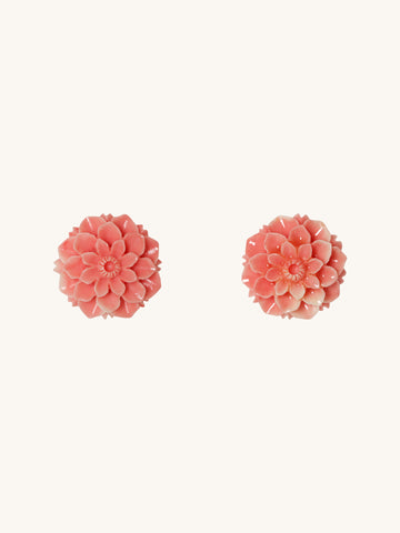 Coral Joni Stud Earrings