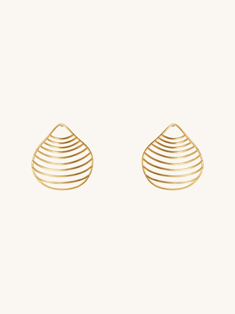 Small Clam Seashell Earrings