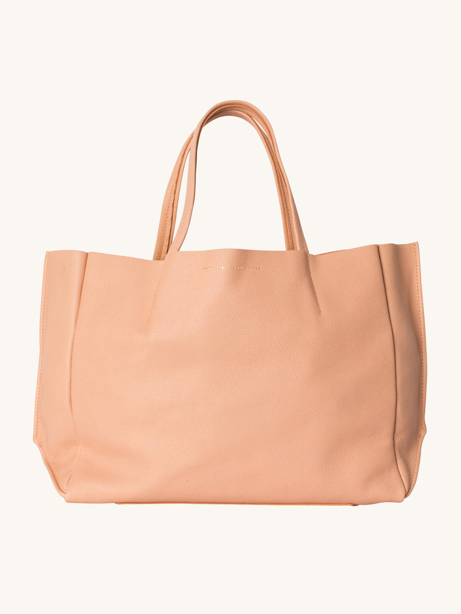 Sideways Tote in Cantaloupe