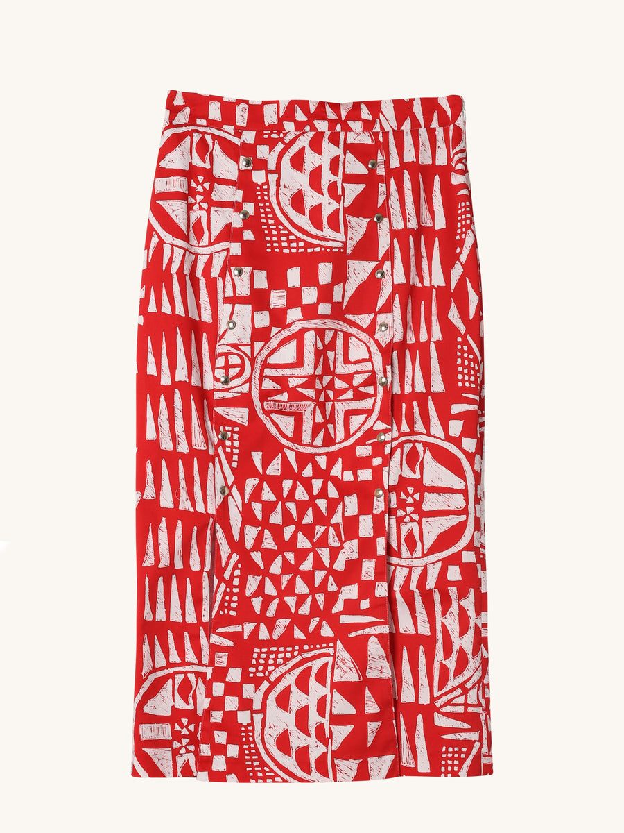 Rasatello Skirt in Red