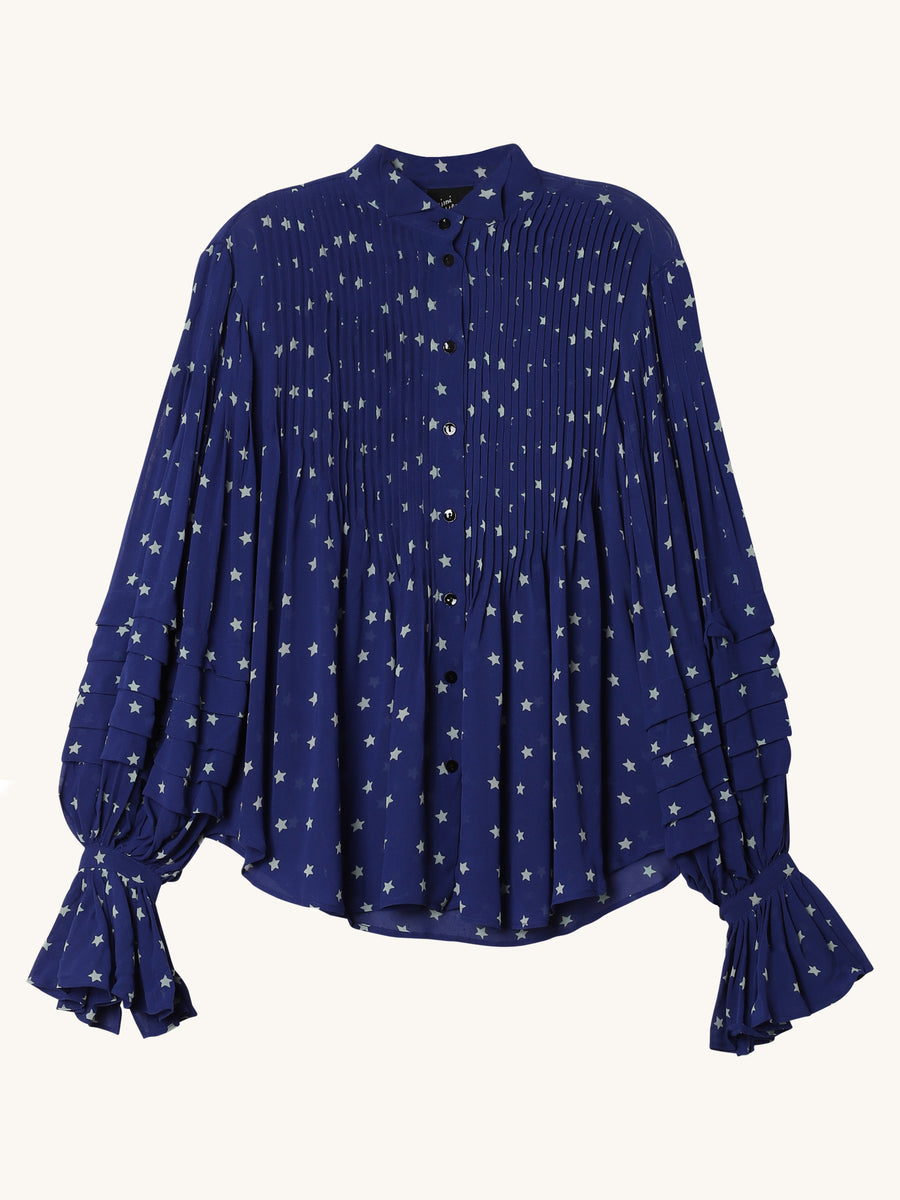 Ava Blouse in Navy Stars