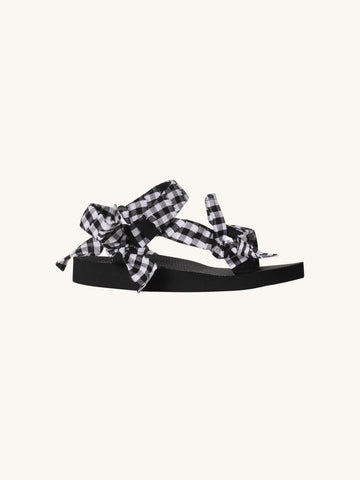 Trekky Black & White Fabric Sandal